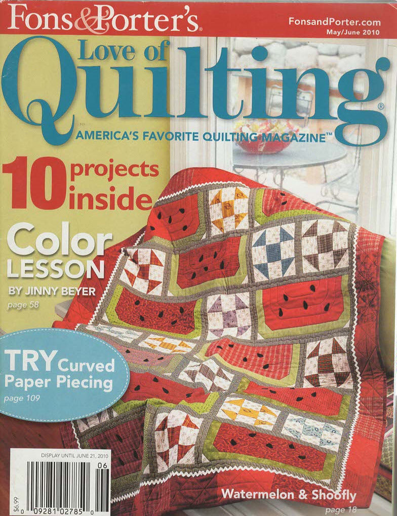 Primary image for Fons & Porter's Love of Quilting Magazine JUNE 21, 2010 Color Lesson by Jinny