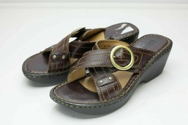 Born 8 Brown Platform Sandals Women's - $32.00