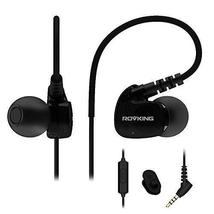 ROVKING Wired Sweatproof Earhook In Ear Sport Workout Headphones Noise I... - $29.90