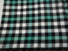One yard Cotton Fabric / Black, White and Green / Party Prom Dresses Furnishing - $8.92