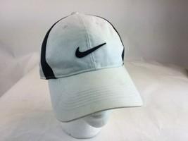 NIKE golf white Black golf visor hat cap some marks Adjustable  Closure - $14.28
