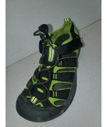 Keen Newport H2 Youth Size 4 Waterproof Sport Sandals Black Green 1009965 - $34.64