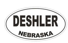 Deshler Nebraska Oval Bumper Sticker or Helmet Sticker D5023 Oval - $1.39+