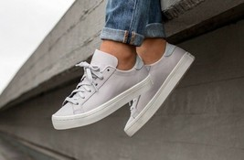 Adidas Originals Womens Court Vantage Trainers Leather Shoes Sneakers BY... - $71.09