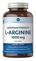 Vitamin World L-Arginine 1000mg Maximum Strength 100 Coated Caplets