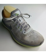 Nike Flex Run 2016 Women's Gray and Light Green Sneakers Size 7.5 - $35.50 CAD