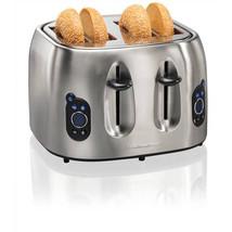 Hamilton Beach 4 Slice Stainless Steel Digital Toaster New - €46,18 EUR