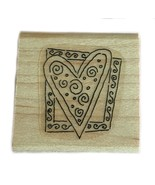 Rubber Wood Stamp Stamping Crafting Stampin Up Framed Heart Love Romance - $9.89