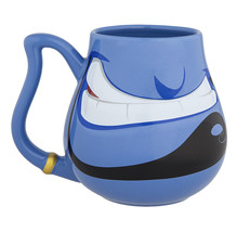 Disney Parks Blue Genie from Aladdin Face Ceramic Mug Cup NEW - $29.90