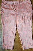Women's Plus Size 28 Cuffed Pants Slacks by LANE BRYANT orange floral NWOT - $14.31