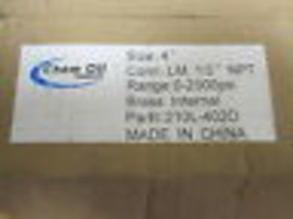 "CHEM OIL 4"" PRESSURE GAUGE 210L-4020 LIQUID FILLED new image 2"