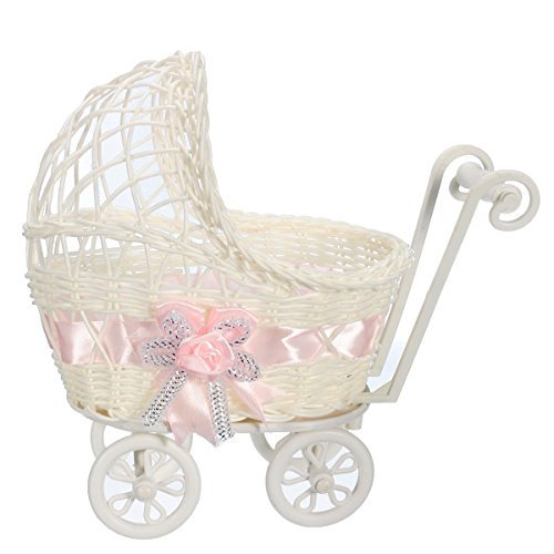 Ben Collection Wicker Baby Girl 9 Inch Carriage Collection