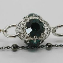 Silver Bracelet 925 Rhodium and Burnished with Crystals Colourful Made in Italy image 4