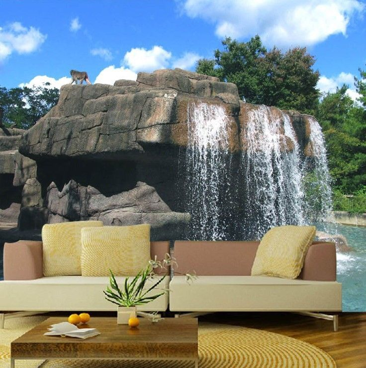 Primary image for 3D Rock Waterfall 1 Wall Paper Wall Print Decal Wall Deco Indoor wall Murals