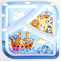 Noah's Ark Kids 3-Section Divided Plate NEW BPA-Free Non-Toxic Durable - $10.62