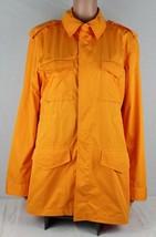 Lauren Ralph Lauren womens coat jacket rainwindbreaker pockets orange si... - $28.47