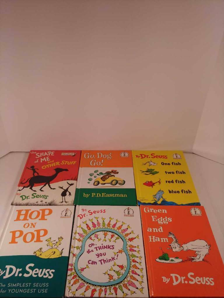 Lot of 6 Dr Seuss Books Hop On Pop Green Eggs & Ham One Fish Two Fish & More