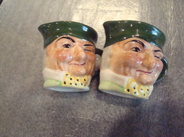 Two Vintage Hand Painted Small Toby Jugs/Pitchers Artone England Double ... - $14.84