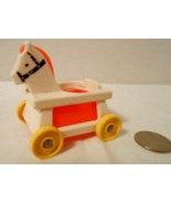 Vintage Fisher Price Little People Nursery Horse Rocker Figurine - $7.91