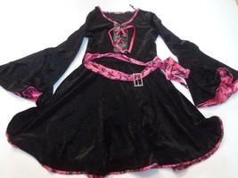 Juniors Pirate S/M Costume Outfit (Pink/Black) Skulls Robe - $14.01
