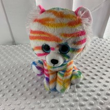 "Best Made Toys Zebra Rainbow Plush Pink Orange Blue Big Eyes 9"" Tall Stuffed Toy - $6.79"