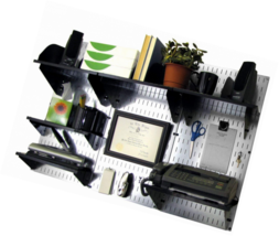 Wall Control Office Organizer Unit Mounted Desk Storage and Black Access... - $173.12