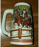 Vintage 1984 Budweiser Clydesdale Holiday,  Covered Bridge St. Louis Bee... - $25.25
