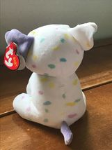 Gently Used Ty Sprinkles White with Pastel Confetti Plush Puppy Dog Stuffed Anim image 3