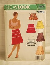 New Look Easy 6460 Sewing Pattern Size A 6 ~ 16 Misses Skirt Six Sizes n One NOS - $6.92