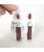 Kendra Scott Decker Bell Tassel Drop Earrings NWT NEW $150 Berry / Silve... - $80.00