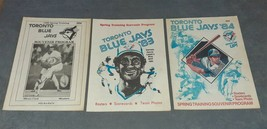 Lot of 3 Toronto Blue Jays Spring Training Souvenir Programs 1980 1983 1984 - $24.00