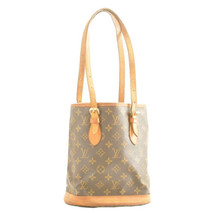 LOUIS VUITTON Monogram Bucket PM Shoulder Bag M42238 LV Auth 11561 Sticky - $168.79