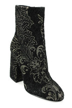 Ash Womens Floral Brocade Chunky Heel Ankle Boots Black Metallic Gold Si... - $75.00