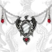 SteamPunk Victorian Alchemy Gothic Drakul's Mirror Pendant Necklace, NEW... - $62.55