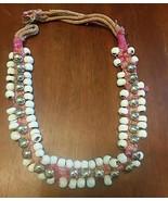 Glass Trade Beads Antique Handmade woven belt strap White Lot of 67 - $44.52