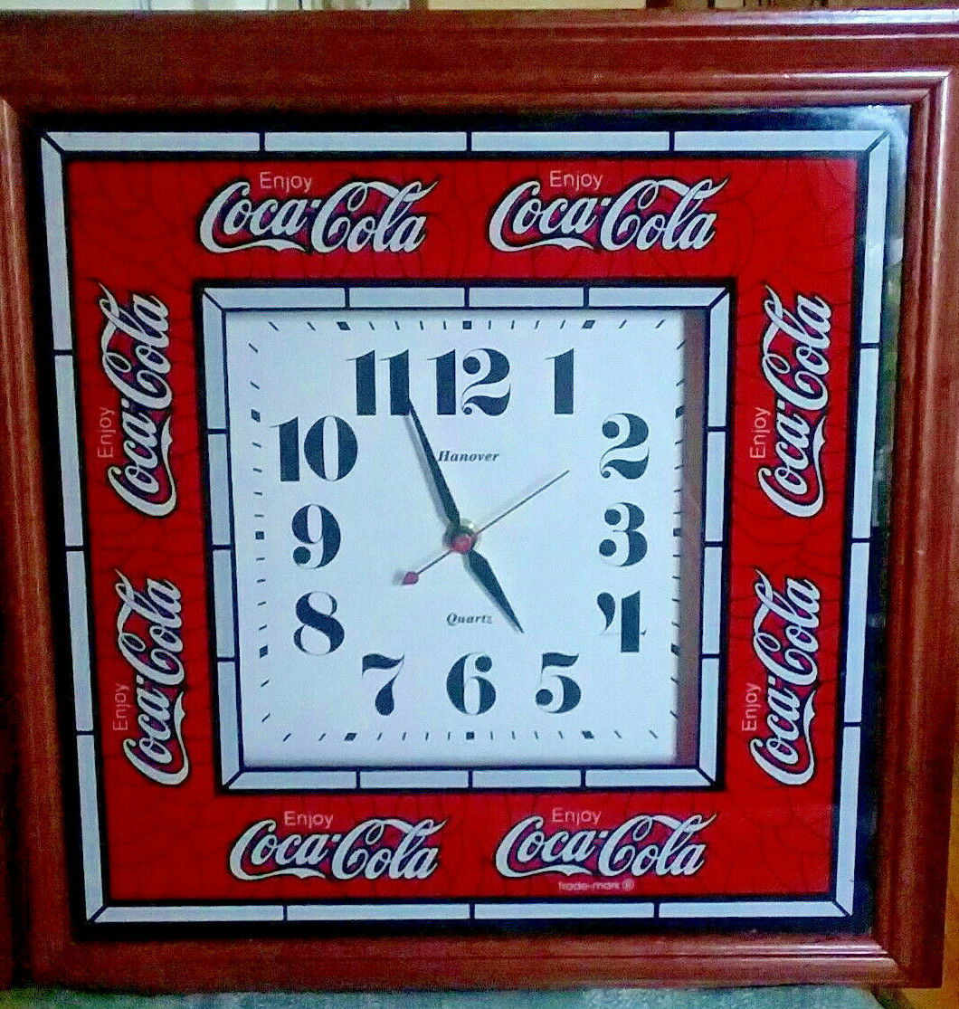 Primary image for Vintage Large Hanover Coca-Cola Clock