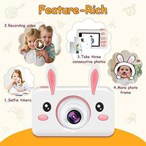 "Kids Camera Gifts for Girls, 2"" IPS Screen 8.0MP Shockproof Mini Child Video Cam image 5"