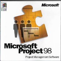 Microsoft Project 98 Project Management Software Upgrade CD Disc with Key - $6.92