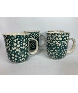 NEW Tienshan Folk Craft Moose Country Coffee Cups Set of 4 Green 12 oz U... - $32.66