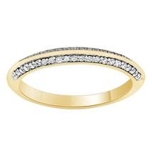 14k Yellow Gold Plated 0.44 Ct Sim Diamond Womens Wedding Anniversary Band - $84.99