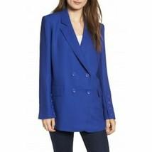 Chelsea28 Womens Button Detail Jacket Blazer Sz Medium Blue Long Sleeve ... - $29.69