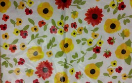 """FLANNEL BACK VINYL TABLECLOTH 52"""" x 90"""", (6-8 ppl), FLOWERS by TOP GRADE - €11,01 EUR"""