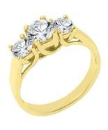 1.51 CARAT WOMENS 3-STONE PAST PRESENT FUTURE DIAMOND RING ROUND CUT YEL... - £3,302.25 GBP