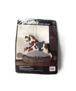 Plastic Canvas Kit Bucilla Rocking Horse Door Stop Crafts Nursery Decor - $19.79