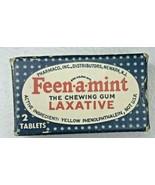Vintage Sample box of Feen-a-Mint Laxative Box  - $9.89