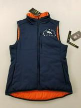 new NIKE Shield women vest NFL Broncos slim reversible navy orange sz XS... - $44.54