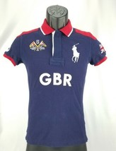 Kid's Skinny Polo Ralph Lauren Great Britain 5 Boys Blue Red Polo Size XS - $16.08