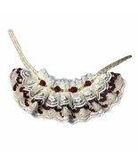 Handmade Retro Lace Collars Dog Necklace Cat Neckerchief Wine Red Rose 8... - $16.89