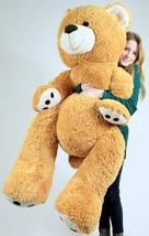 Big Plush Giant Teddy Bear 5 Feet Tall Honey Brown Color Soft Big Teddy ... - $97.11