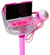 Kids Sing Along Mp3 Karaoke Machine with Microphone and Adjustable Stand - $25.48